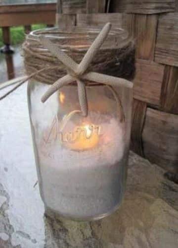 adornos para bodas en la playa con velas