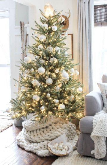 decoraciones navideñas para la casa con blanco