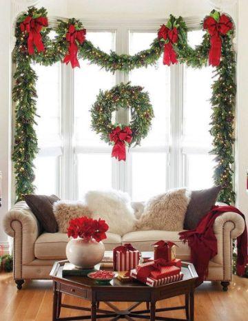 decoraciones navideñas para la casa en la sala