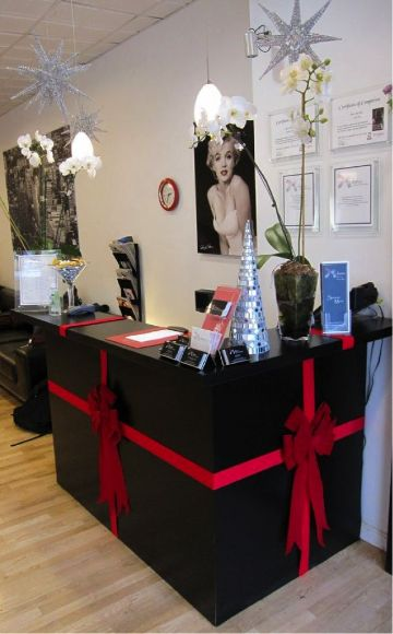 decorar salon para navidad estilo retro