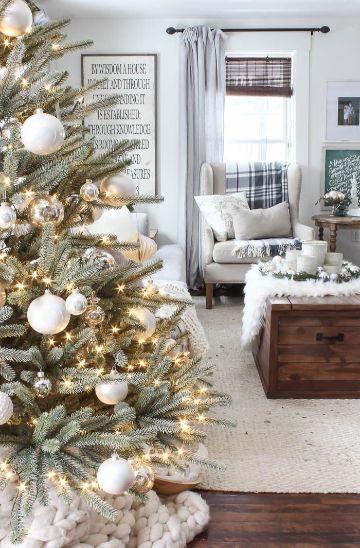 decorar salon para navidad minimalista