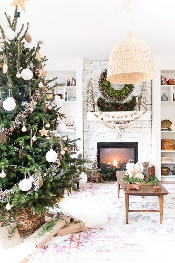 decorar salon para navidad sencillo