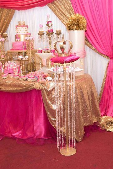 fiesta de 15 años de princesas sencilla