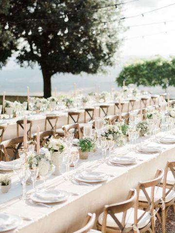 mesas imperiales para bodas al aire libre