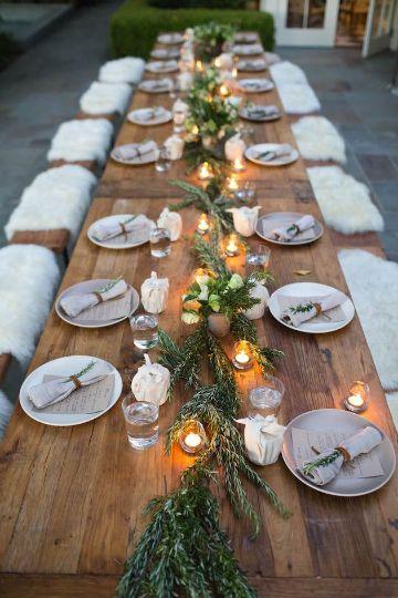 mesas imperiales para bodas country