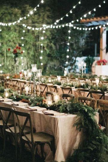 mesas imperiales para bodas en jardin