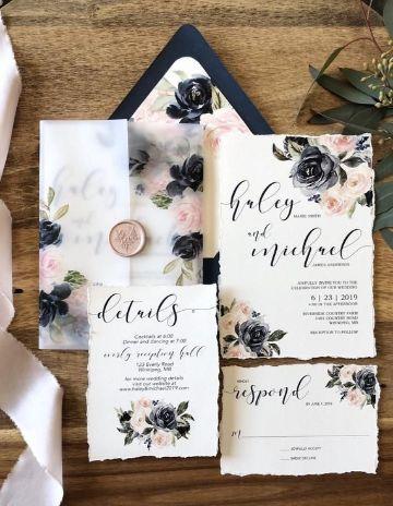modelos de invitaciones de bodas clasicos