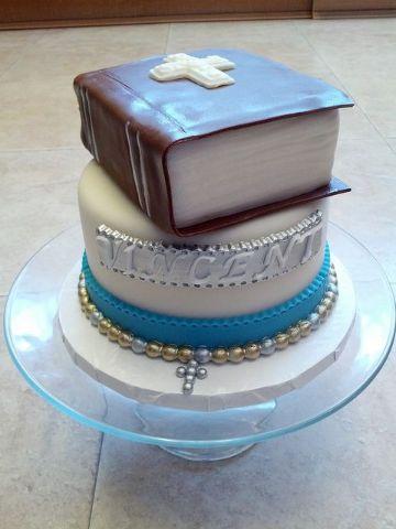 tortas para confirmacion varon con fondant