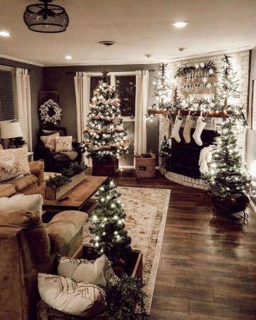 casas decoradas de navidad por dentro