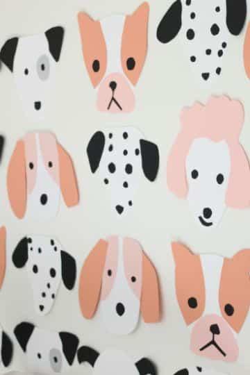 decoracion de fiesta para perros en las paredes