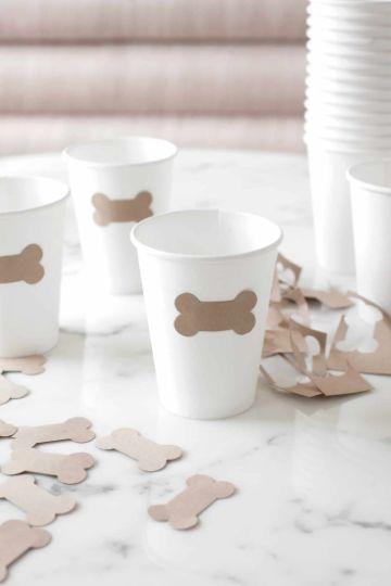 decoracion de fiesta para perros en vasos