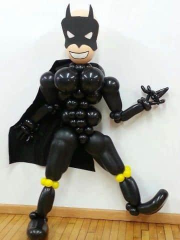 decoracion de globos para hombre de batman