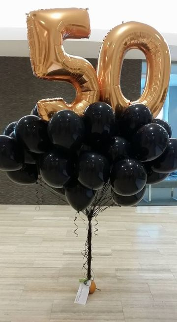 decoracion de globos para hombre mayores