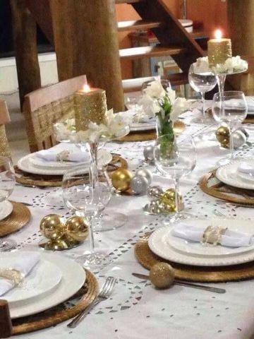decoracion de mesa fin de año con velas