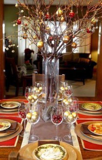 decoracion de mesa de fin de año para la casa