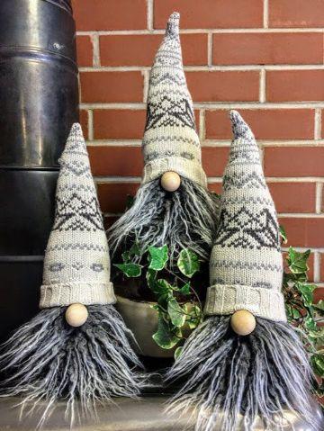 decoracion navideña con reciclaje de medias