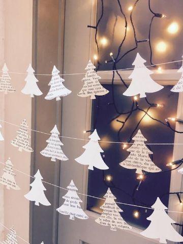 decoracion navideña con reciclaje para puertas