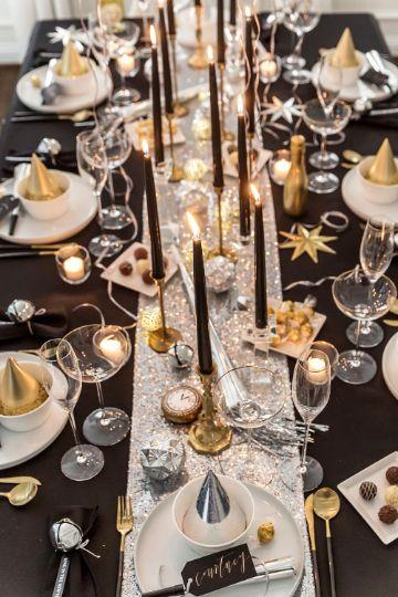 decoracion para año nuevo 2019 mesas