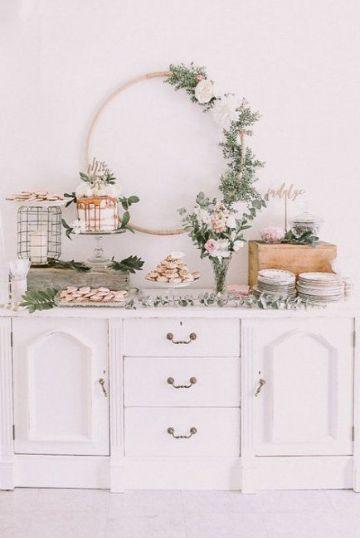 decoracion para bautizo de niña en casa con mesa
