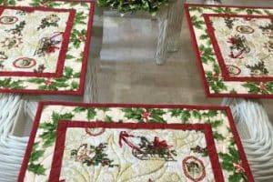 4 estilos para manteles individuales navideños