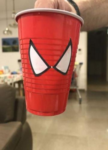 Decoracion tematica del hombre araña para fiestas infantiles