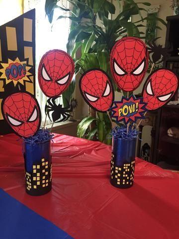 Decoracion tematica del hombre araña para niños