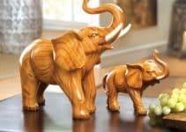 4 hermosos adornos de elefantes en la casa