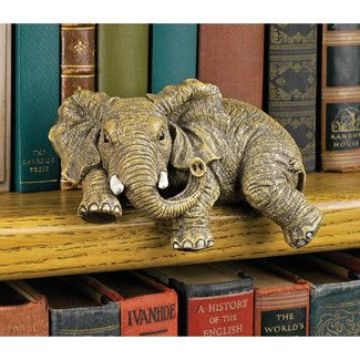 adornos de elefantes en la casa librero