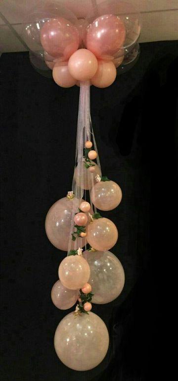 arreglos de globos para cumpleaños en el techo
