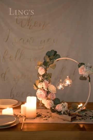 decoracion con flores naturales para boda