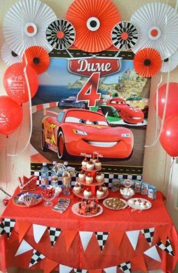 decoracion de cumpleaños de cars paso a paso