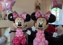 Como hacer una decoracion de minnie con globos