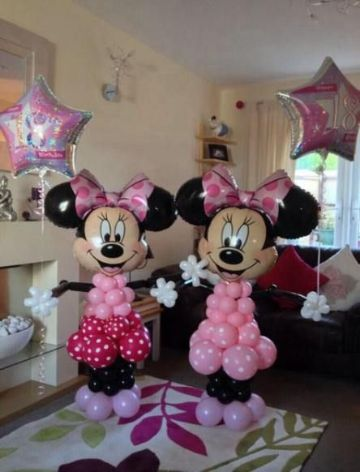 decoracion de minnie con globos para chicas