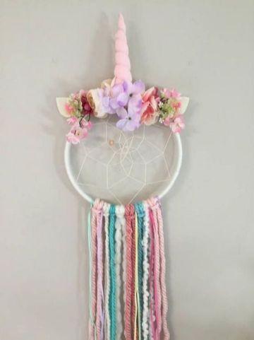 decoracion de unicornio para niña atrapasueño