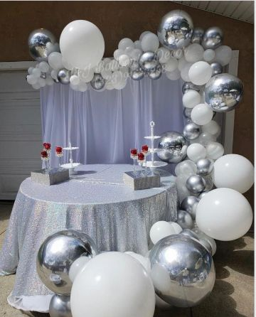 decoracion en globos para adultos casados