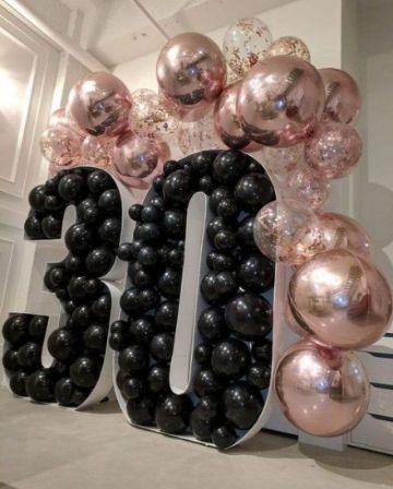 decoracion en globos para adultos de 30