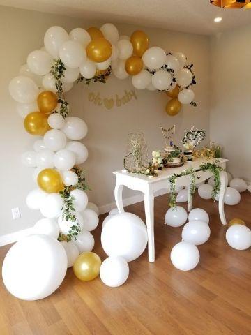 decoracion en globos para adultos de fiesta en casa