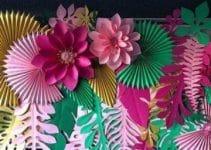 Como hacer decoracion fiesta con flores de papel