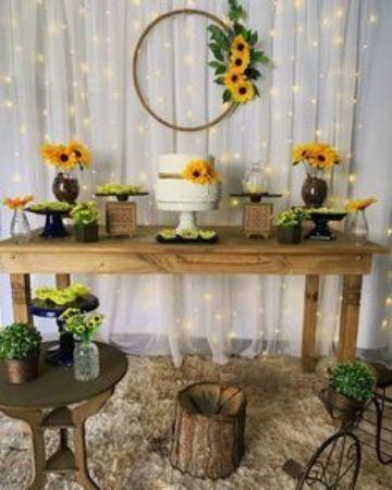 decoraciones para fiesta de girasol en tortas