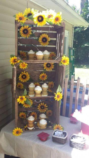 decoraciones para fiesta de girasol natural