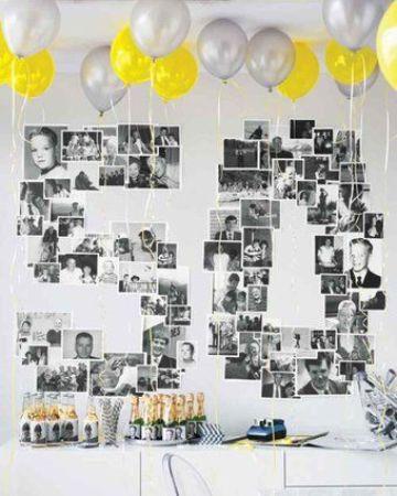 fiesta tematica de 50 años para mujer con fotografias