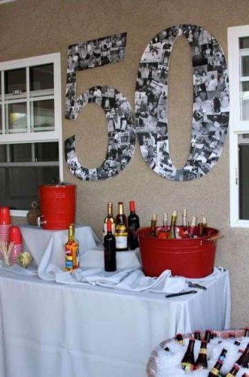 fiesta tematica de 50 años para mujer decoracion