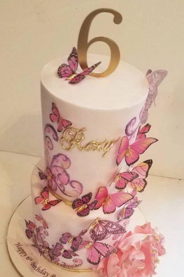 mariposas para decorar cumpleaños pastel