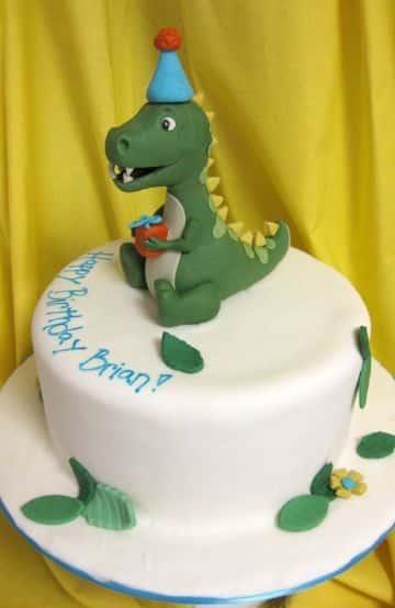 tortas infantiles para niños de dinosaurio