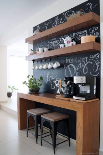 barras de madera para bar en casa