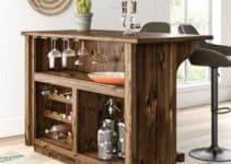 4 hermosas barras de madera para bar en casa