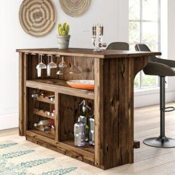 barras de madera para bar pequeño