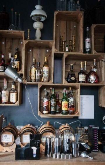 barras de madera para bar vintage
