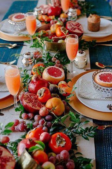 decoracion de mesa de 15 años tropical
