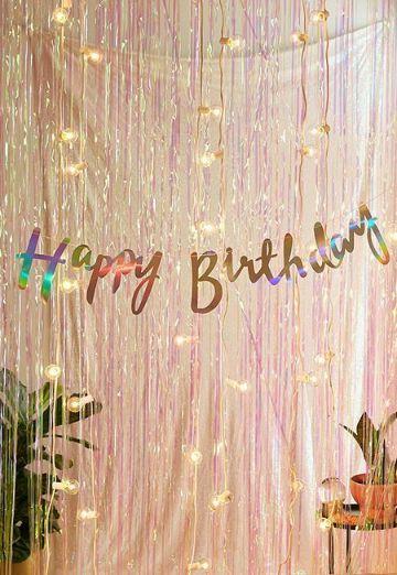 decoracion de pared para cumpleaños brillante
